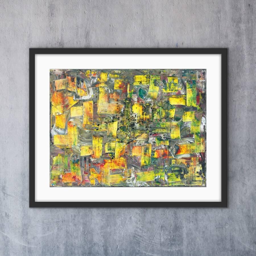 The Yellow Lines - Print - Home Interior | AlessandraViola.co.uk