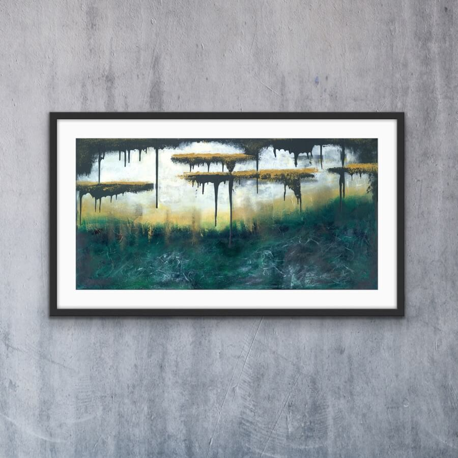 Golden Escape - Print   AlessandraViola.co.uk