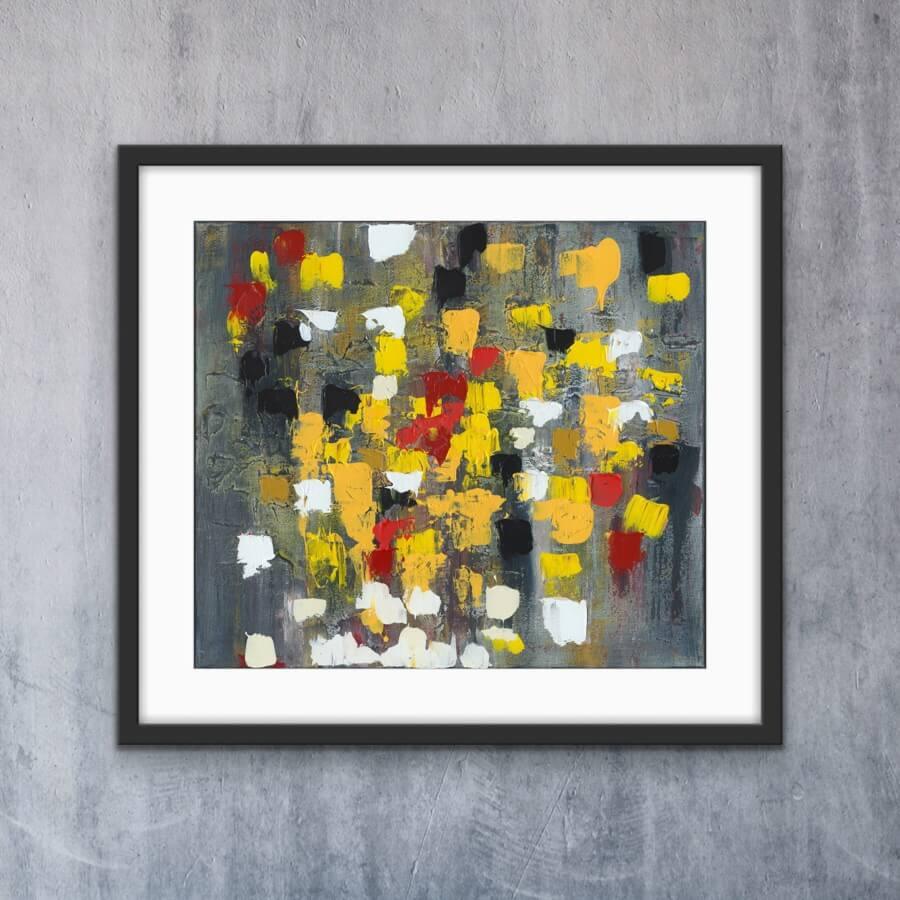 Colourful Rain - Print   AlessandraViola.co.uk