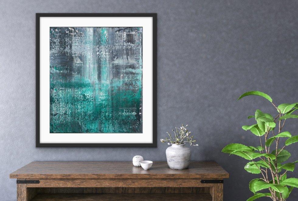 Green Dots - Print - Home interior   AlessandraViola.co.uk