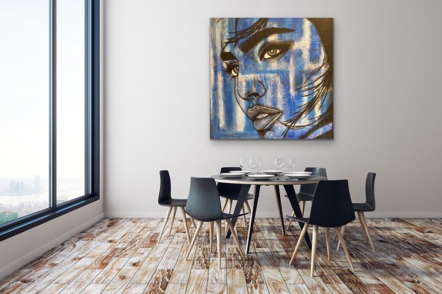 Woman in Blue - Home Interior   AlessandraViola.co.uk