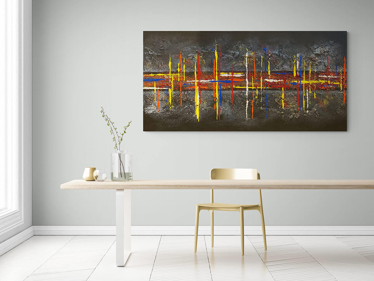 Buy original abstract artwork to decorate your dining room   AlessandraViola.co.uk